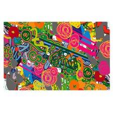 Psychedelic Garden by Frederic Levy-Hadida Decorative Doormat