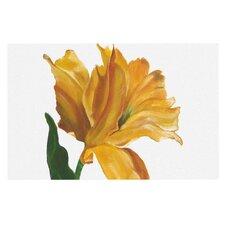Yellow Tulip by Lydia Martin Decorative Doormat