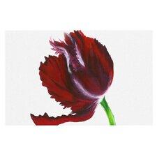 Dark Purple Tulip by Lydia Martin Decorative Doormat