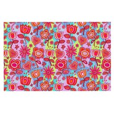 My Folk Flowers by Julia Grifol Decorative Doormat