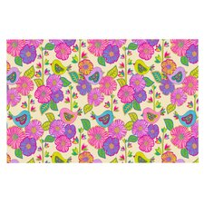 My Birds and My Flowers by Julia Grifol Decorative Doormat