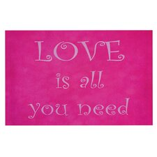 Love is all you need by Iris Lehnhardt Quote Decorative Doormat