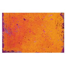 Deco Orange Purple by Iris Lehnhardt Paint Decorative Doormat