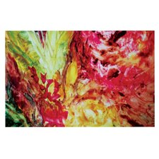 Passion Flowers I by Mary Bateman Decorative Doormat
