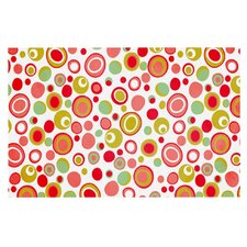 Bubbles by Louise Machado Warm Circles Decorative Doormat