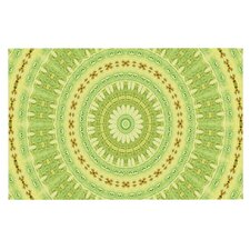Wheel of Spring by Iris Lehnhardt Circle Decorative Doormat