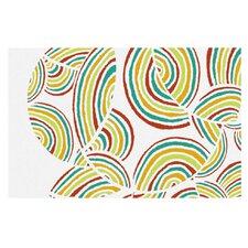 Rainbow Sky by Pom Graphic Design Decorative Doormat