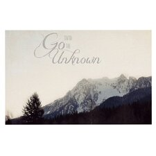 Go Into The Unknown by Robin Dickinson Decorative Doormat