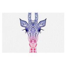 Rainbow Giraffe by Monika Strigel Decorative Doormat
