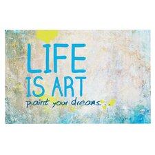 Life Is Art Decorative Doormat