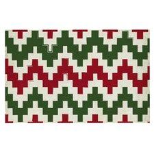 Christmas Gram Chevron Decorative Doormat