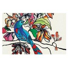 Magic Garden by Sonal Nathwani Rainbow Bird Decorative Doormat