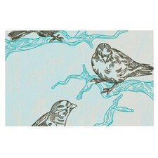 Birds in Trees by Sam Posnick Decorative Doormat
