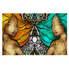 Mermaid Twins by Mandie Manzano Decorative Doormat