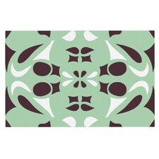 Swirling Teal by Miranda Mol Decorative Doormat