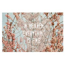In Heaven by Robin Dickinson Cherry Blossom Decorative Doormat