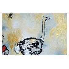 Ostrich by Sonal Nathwani Decorative Doormat