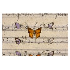 Butterfly Opera by Suzanne Carter Music Decorative Doormat