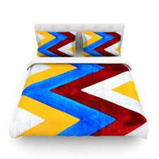 Zig Zag by Brittany Guarino Light Cotton Duvet Cover