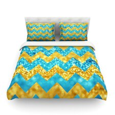 Blueberry Twist by Beth Engel Chevron Light Cotton Duvet Cover