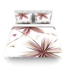 Flower Aubergine by Alison Coxon Light Cotton Duvet Cover