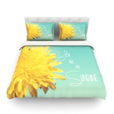 You Are My Sunshine by Beth Engel Light Cotton Duvet Cover