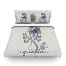 Aquarius by Belinda Gillies Woven Duvet Cover
