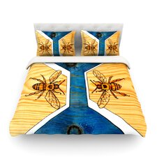 Bees by Brittany Guarino Light Cotton Duvet Cover