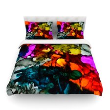 Hippie Love Child by Claire Day Light Cotton Duvet Cover