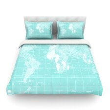 Welcome to my World by Catherine Holcombe Light Cotton Duvet Cover