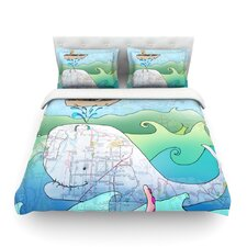 I'm on a Boat by Catherine Holcombe Light Cotton Duvet Cover