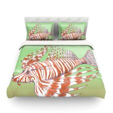 Fish Manchu by Catherine Holcombe Light Cotton Duvet Cover
