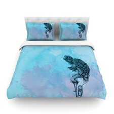 Turtle Tuba II by Graham Curran Light Cotton Duvet Cover