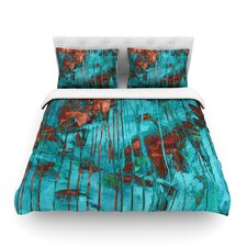 Rusty Teal by Iris Lehnhardt Light Cotton Duvet Cover