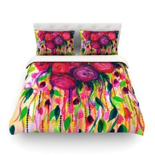 Roses are Red Light by Ebi Emporium Cotton Duvet Cover