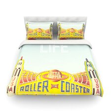 Life is a Rollercoaster Light by Libertad Leal Cotton Duvet Cover