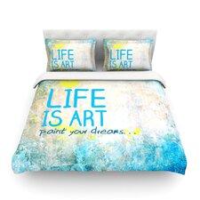 Life Is Art Light Cotton Duvet Cover