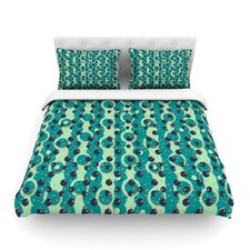 Bubbles Made of Paper by Akwaflorell Light Cotton Duvet Cover
