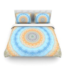 Summer Mandala by Iris Lehnhardt Circle Light Cotton Duvet Cover