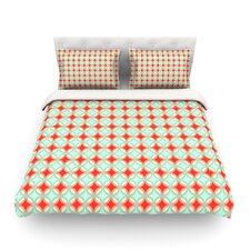 Retro Circles by Catherine McDonald Light Cotton Duvet Cover