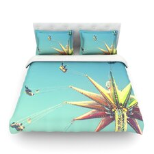 Flying Chairs by Libertad Leal Light Cotton Duvet Cover