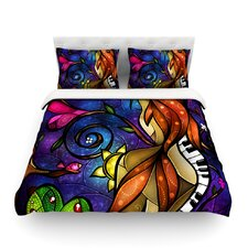 Tell Me Stories by Mandie Manzano Light Cotton Duvet Cover