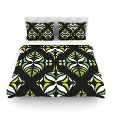 Retro Train Light by Miranda Mol Cotton Duvet Cover