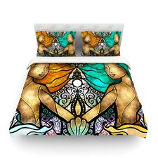 Mermaid Twins by Mandie Manzano Light Cotton Duvet Cover