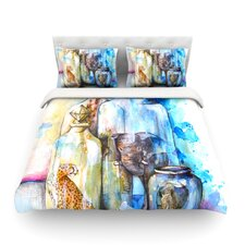 Bottled Animals by Kira Crees Light Cotton Duvet Cover