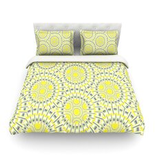 Sprouting Cells Light by Miranda Mol Cotton Duvet Cover
