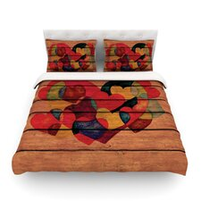 Wooden Heart by Louise Machado Light Cotton Duvet Cover