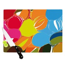 Bubbles by Matthias Hennig Rainbow Circles Cutting Board