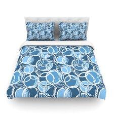 Simple Circles by Julia Grifol Light Cotton Duvet Cover