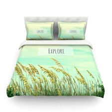 Explore by Robin Dickinson Quote Cotton Duvet Cover